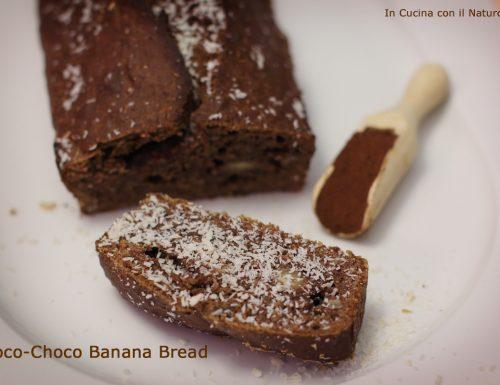 Coco-choco banana bread, ricetta vegan