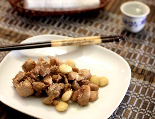 Pollo alle mandorle e zenzero e una cena cinese