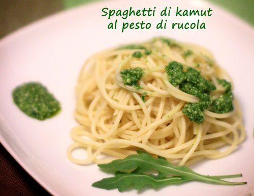 Spaghetti di kamut al pesto di rucola