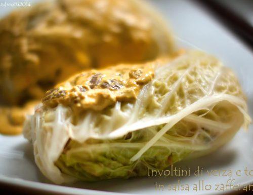 Involtini di verza e tofu in salsa allo zafferano (vegan)