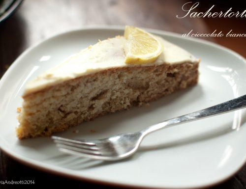 Sacher Torte con cioccolato bianco al profumo di limone, versione leggera