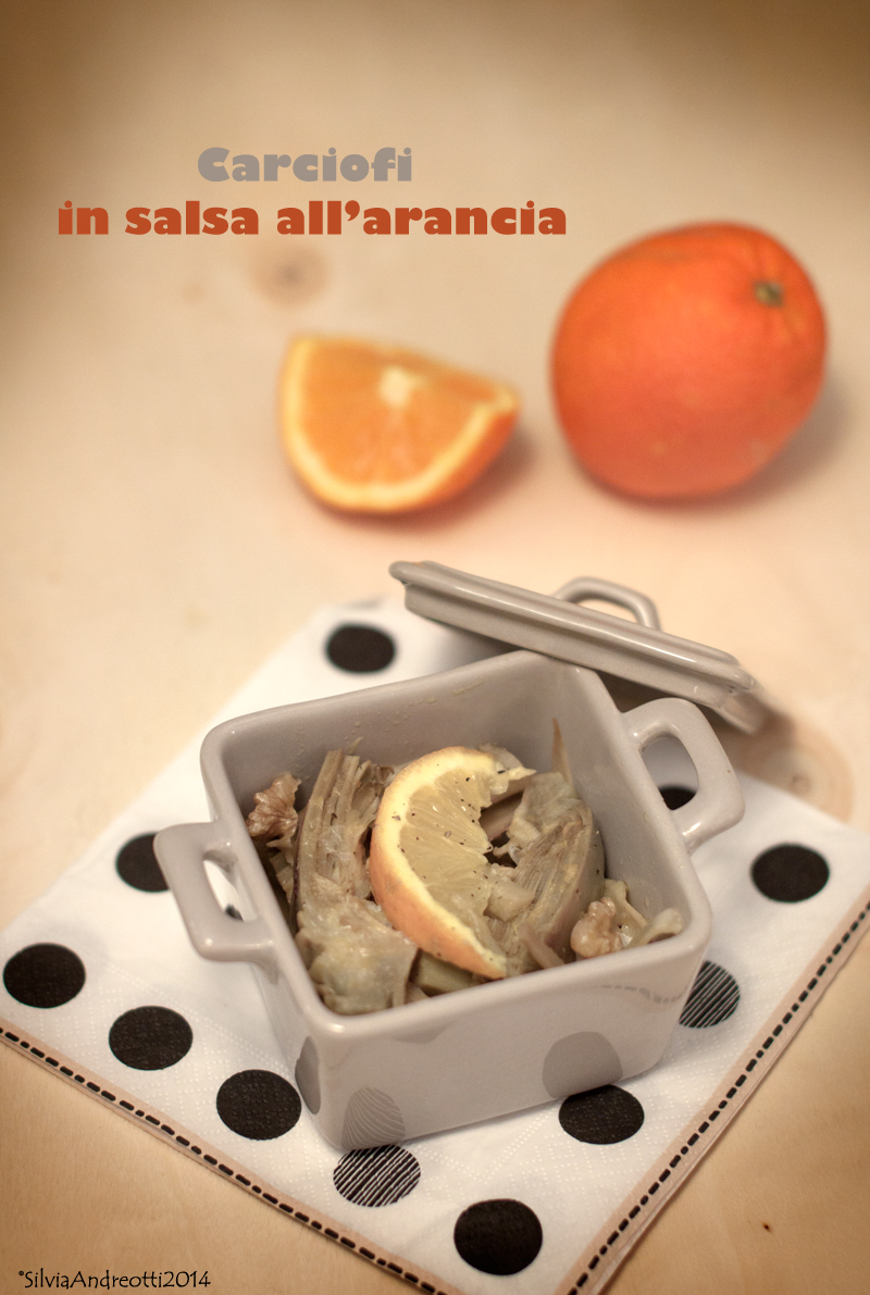 Carciofi in salsa all'arancia