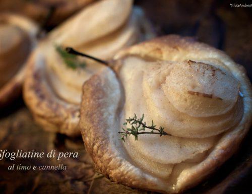 Sfogliatine di pera al timo e cannella