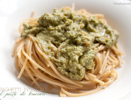 Spaghetti integrali al pesto di broccoli