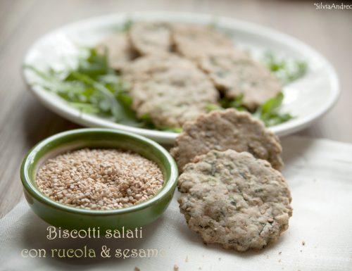 Biscotti salati con rucola e sesamo e…l'aperitivo