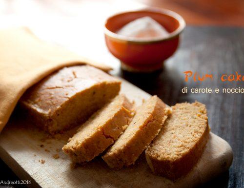 Plum cake di carote e nocciole, vegan e gluten-free