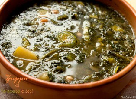Zuppa di tarassaco e ceci