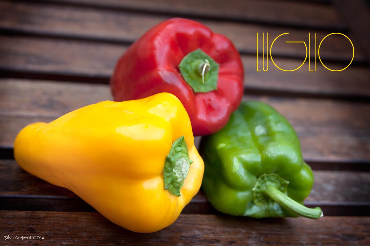 Luglio frutta e verdura di stagione