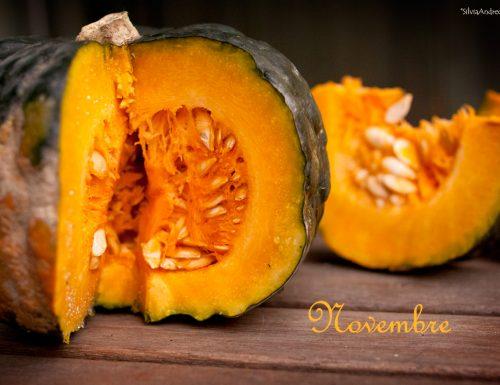 Novembre frutta e verdura di stagione