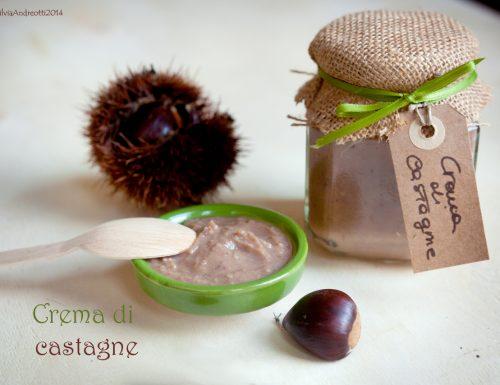 Crema di castagne alla vaniglia low sugar