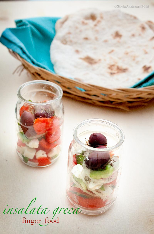 Insalata greca finger food
