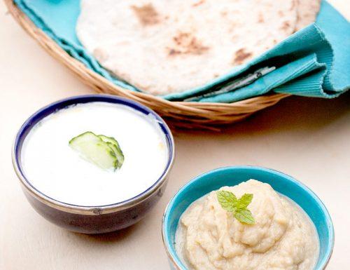 Pita integrale, melitzanosalata e tzatziki: aperitivo greco chapter 1