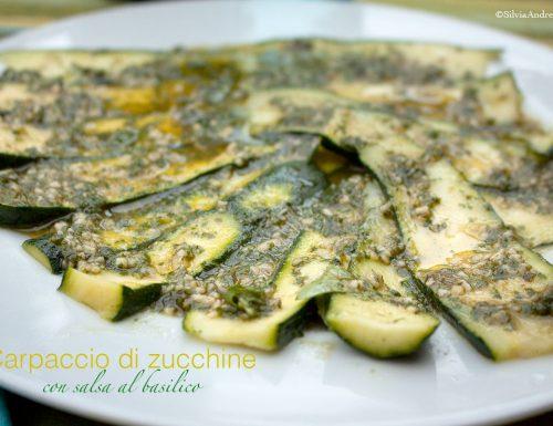Carpaccio di zucchine raw vegan