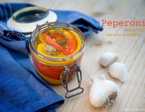Peperoni sott'olio alle erbe aromatiche
