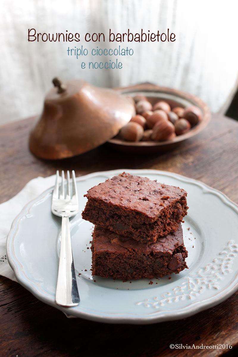 Brownies con barbabietola