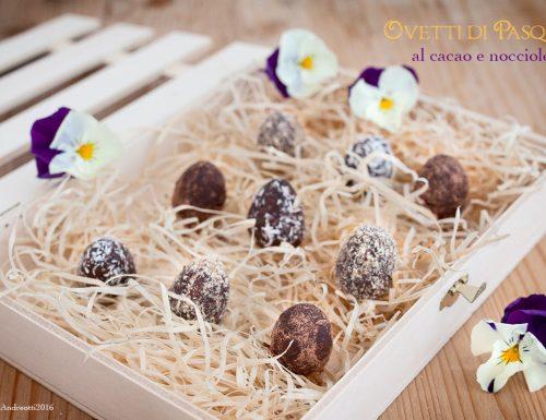 Ovetti di Pasqua al cacao e nocciole, #vegan #gluten-free #sugar-free