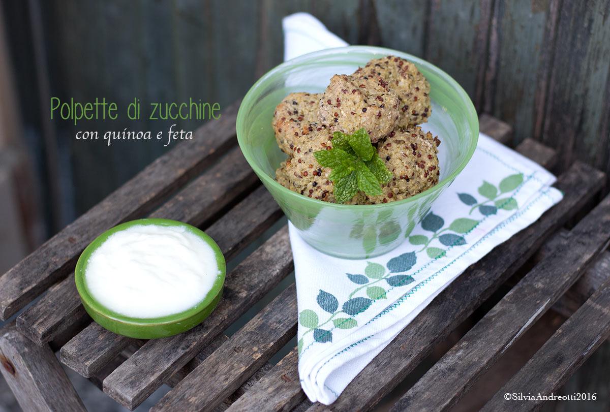Polpette di zucchine con quinoa e feta #glutenfree