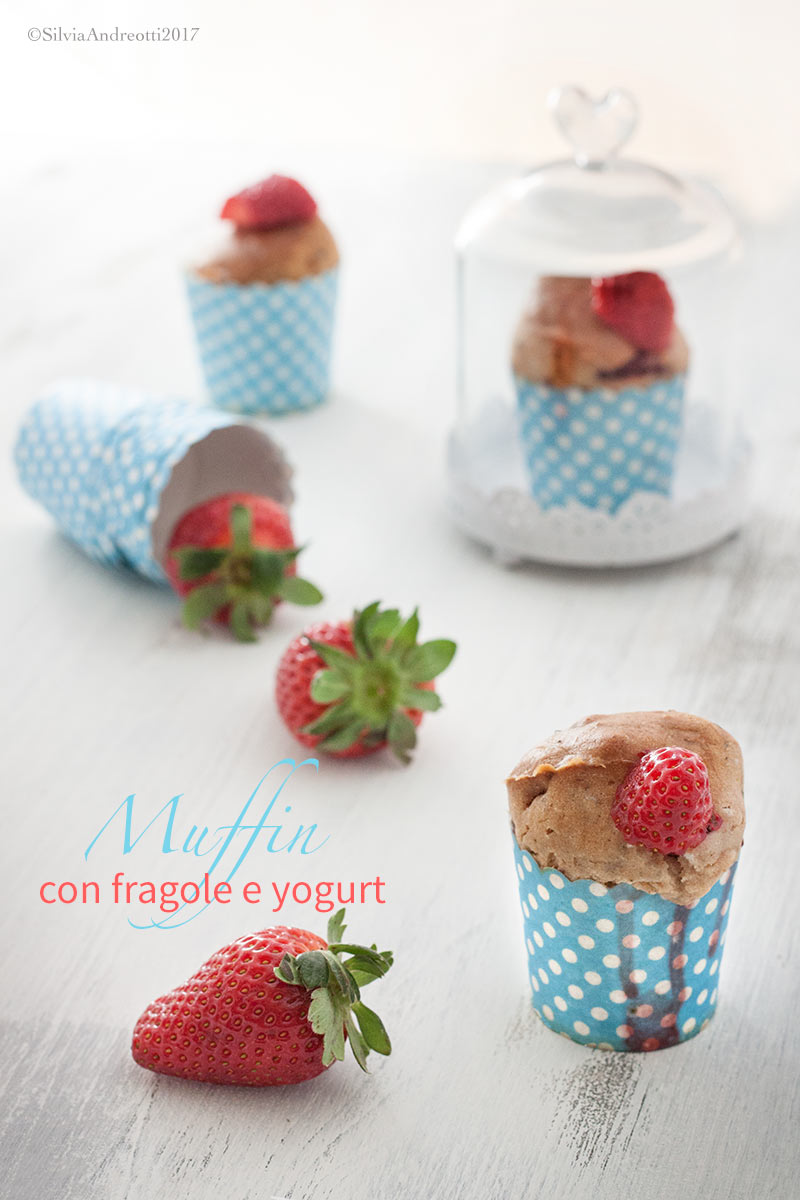Vegan muffin alle fragole