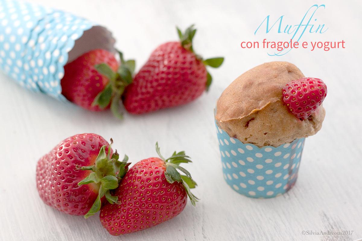 vegan muffin con fragole