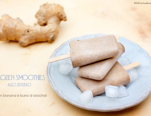 Frozen smoothies allo zenzero, #vegan #glutenfree