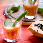 Gazpacho di papaya e verdure estive, #raw #vegan #glutenfree