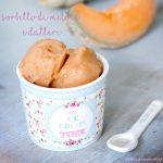 Sorbetto al melone e datteri, #senzazucchero #senzauova #senzalatte