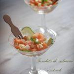 Insalata di salmone e cetrioli finger food #raw #glutenfree