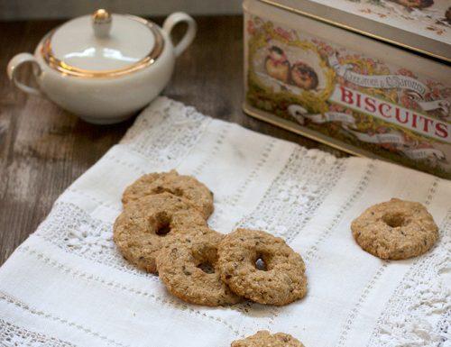 Veg biscotti di avena al cocco e semi di lino
