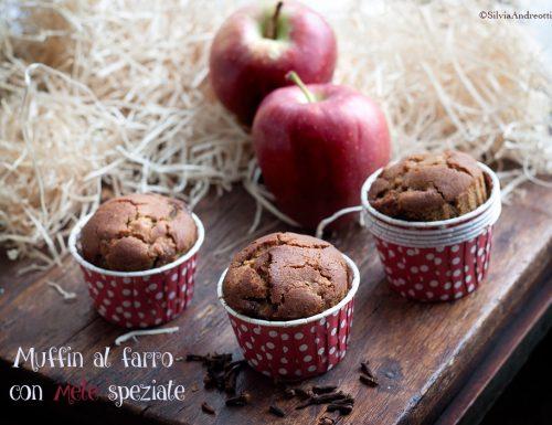 Muffin di farro con mele, spezie e arancia, senza burro, uova, zucchero e con scarti da estrattore