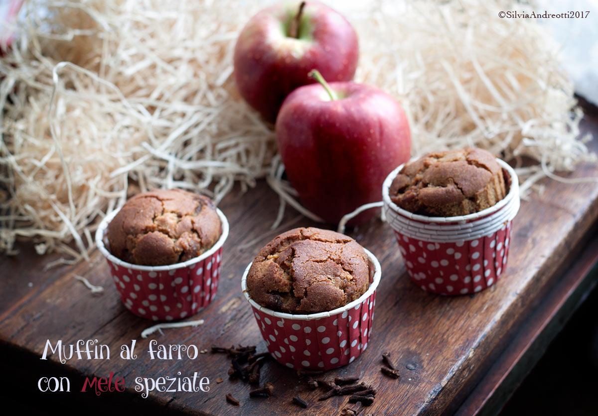 muffin di farro con mele