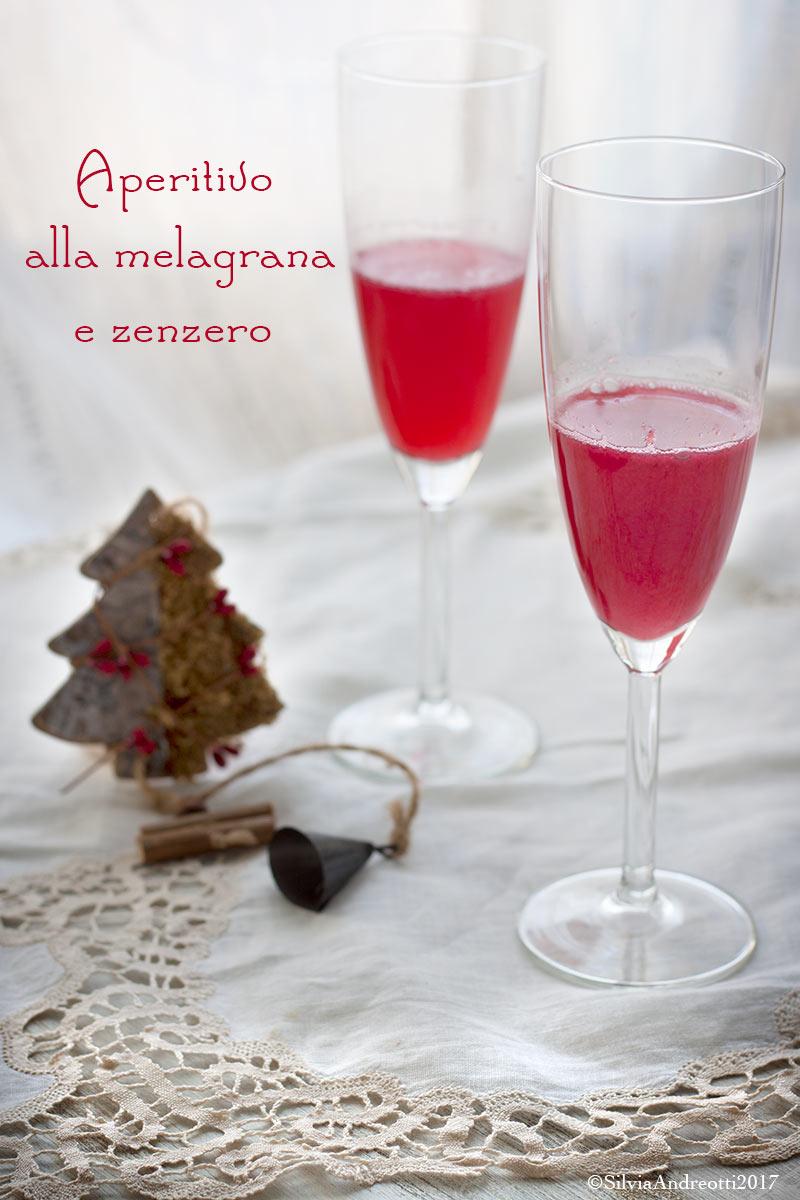 aperitivo di Natale alla melagrana