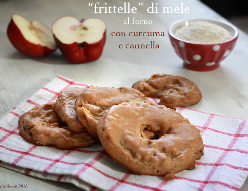 Frittelle di mele al forno con cannella e curcuma #glutenfree #sugarfree