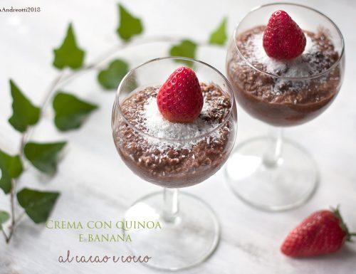 Crema di quinoa dolce con cacao, cocco e banana, #glutenfree #sugarfree #vegan
