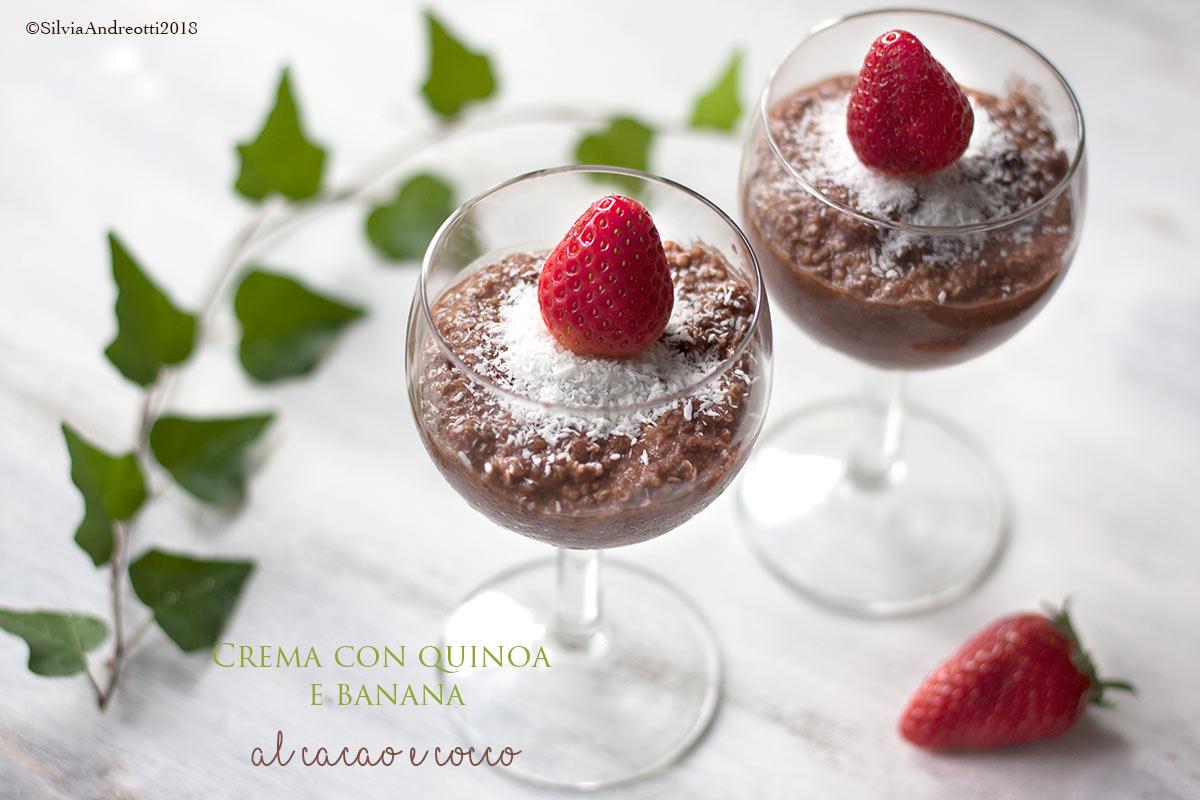 crema di quinoa con banana cocco e cacao