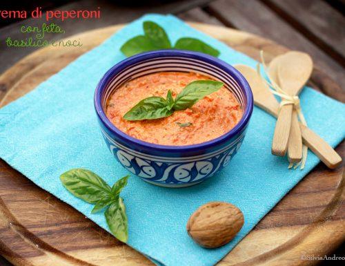 Crema di peperoni con feta, basilico e noci, la mia ricetta per Peperò