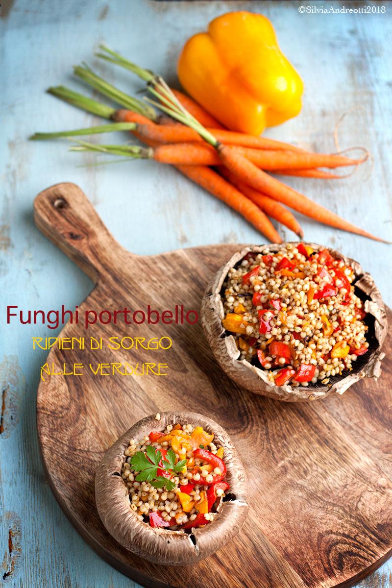 Funghi portobello ripieni di sorgo