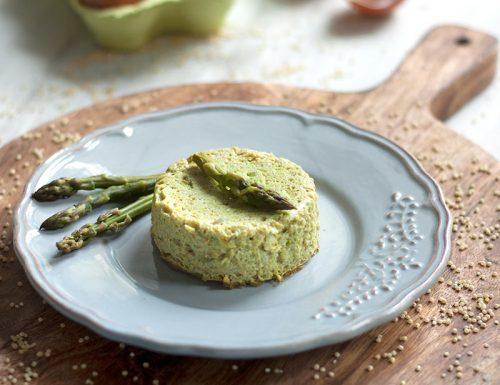 Flan vegetariano con asparagi e miglio #glutenfree