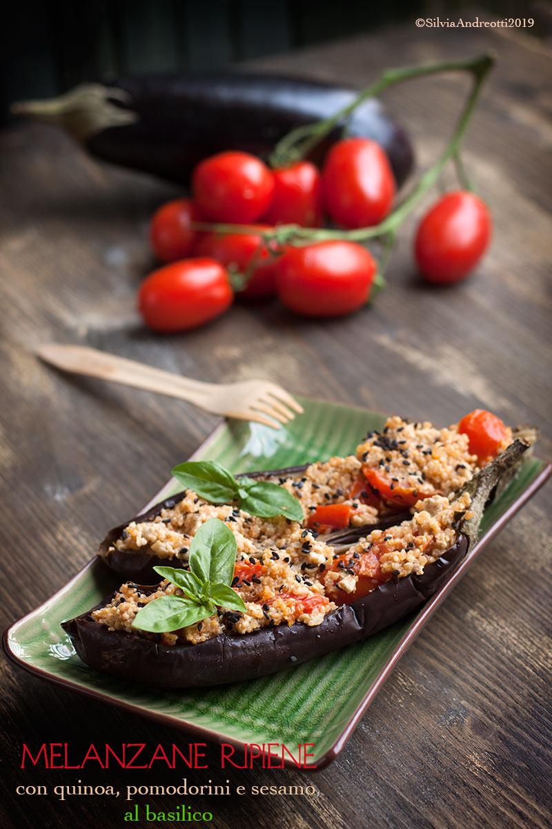 Melanzane ripiene con quinoa