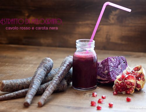 Estratto di melograno, cavolo rosso e carota nera, un succo vivo antiossidante e antinvecchiamento