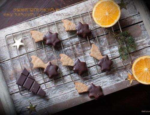 Shortbread, biscotti di Natale al cioccolato e arancia #vegan e #glutenfree
