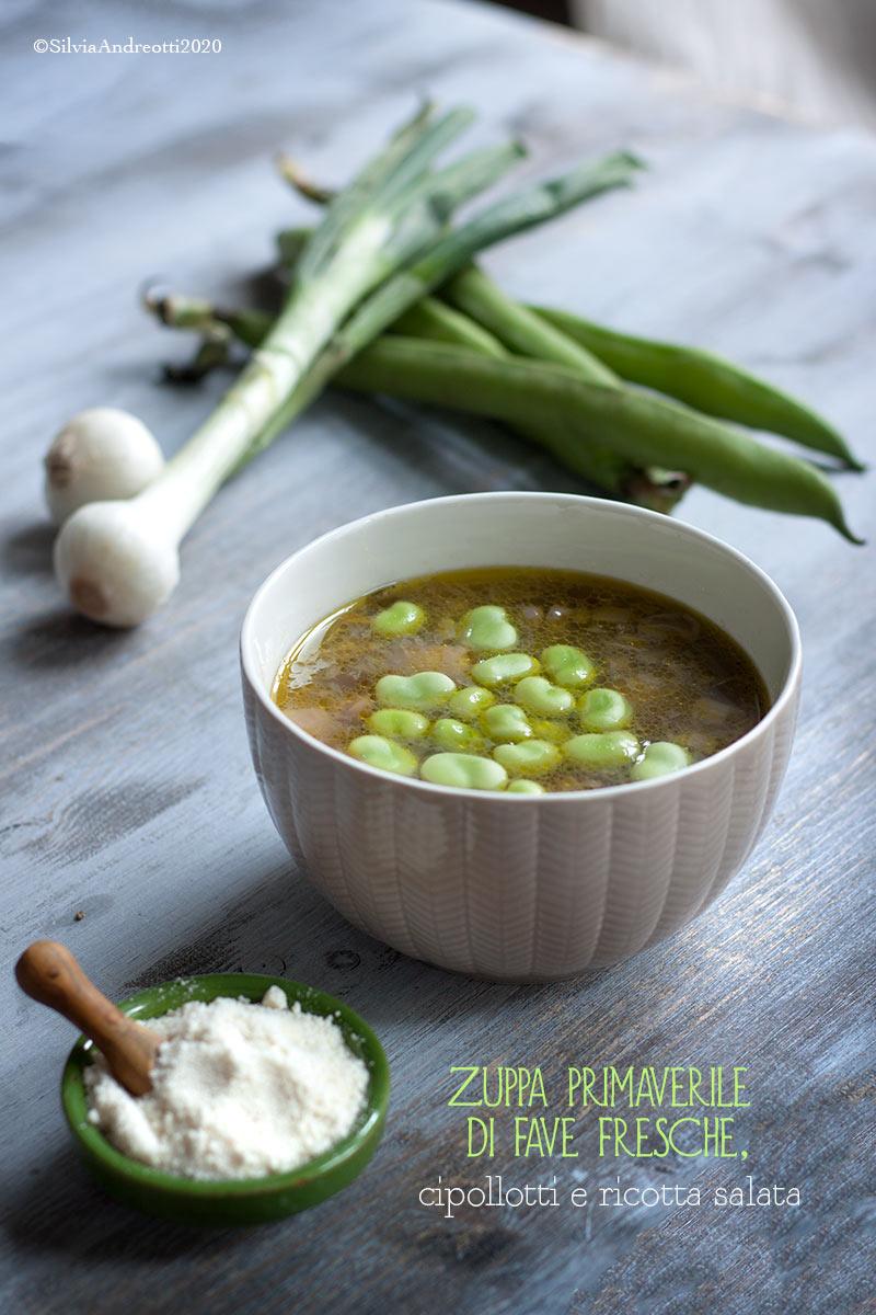 Zuppa primaverile di fave