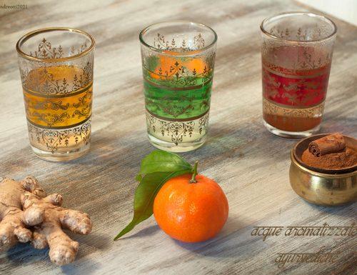Acque aromatizzate ayurvediche, bevande detox