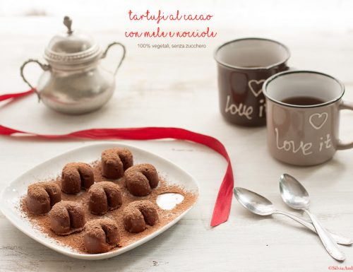 Tartufi al cacao con mele e nocciole, vegan, gluten-free, sugar-free