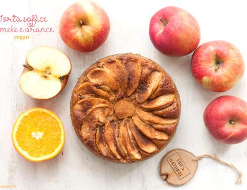 Torta di mele soffice vegan, a basso contenuto di zucchero