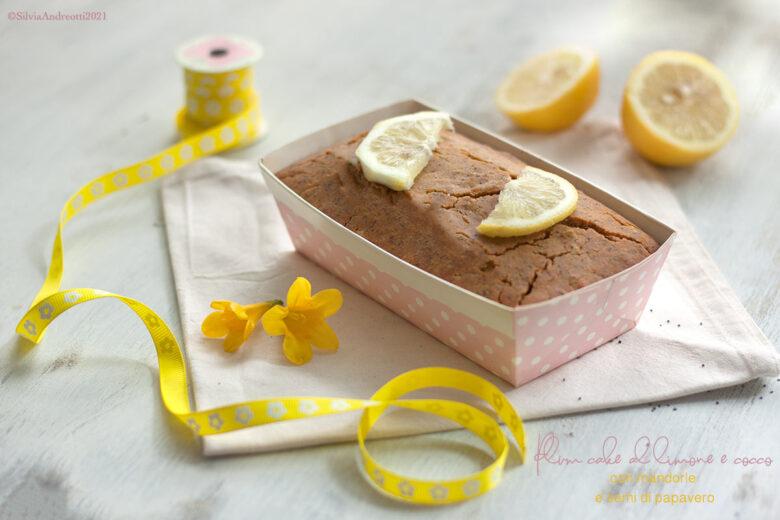 Plum cake al limone e cocco, senza glutine, burro, zucchero