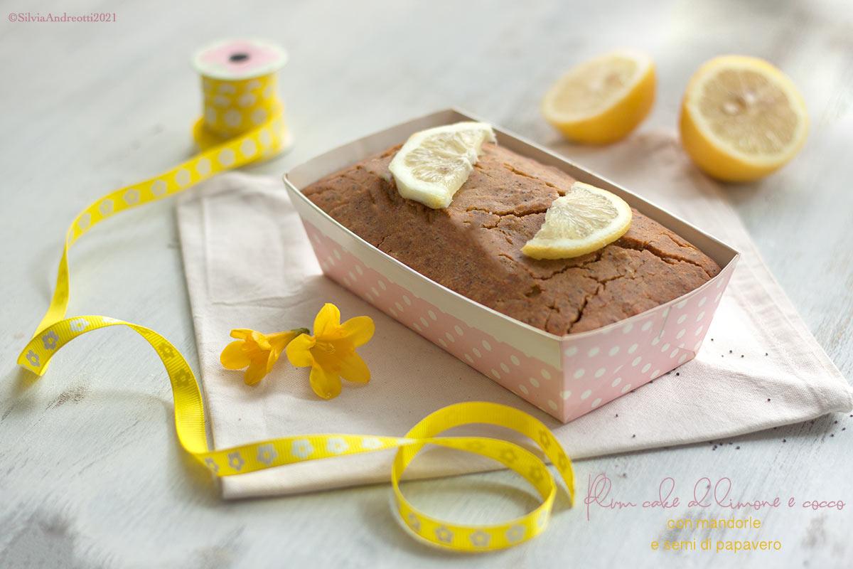 Plum cake al limone e cocco