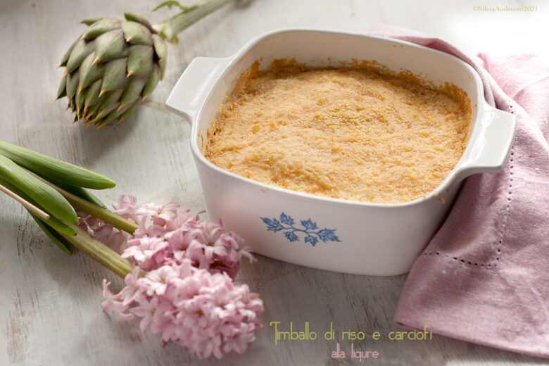 Timballo di riso e carciofi alla ligure, #gluten-free