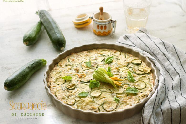 Scarpaccia di zucchine, torta salata tradizionale in versione gluten-free