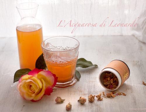 L'acqua alle rose di Leonardo da Vinci, bevanda estiva naturale al100%