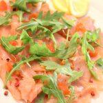 Carpaccio di salmone aromatico